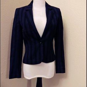 Divided H&M Purple with Black Stripes Blazer
